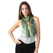 NYFASHION101 Women's Versatile Floral Inspired Sheer Headwrap Scarf - 1433SGGN