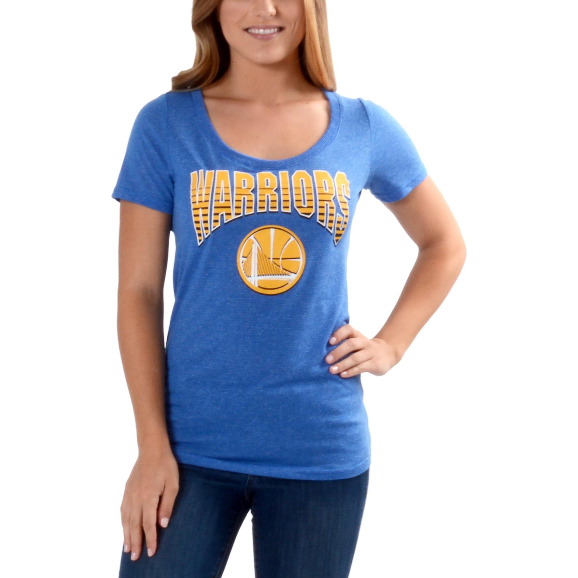 Women's Royal Golden State Warriors Tracer Text Arc T-Shirt