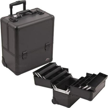 Sunrise C6006PPAB Black Smooth Rolling Makeup Case