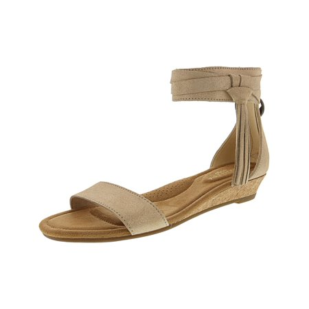 Frosted Leather (Koolaburra by UGG Women's Saige Frosted Almond Ankle-High Leather Wedged Sandal - 6.5M)