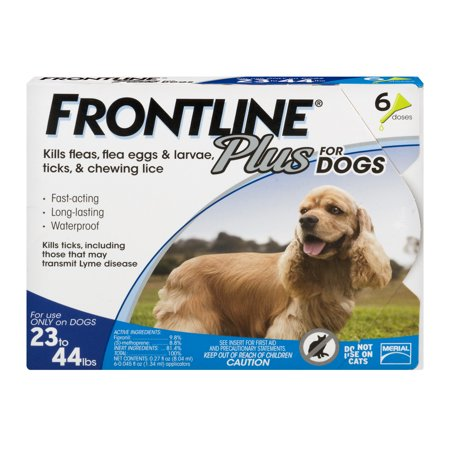 Clearance! Frontline Plus Flea and Tick Lice Treatment for Medium Dogs, 6 Monthly