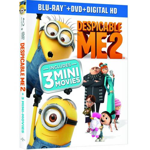 Despicable Me 2 (Blu-ray + DVD + Digital HD) (With INSTAWATCH) (Widescreen)