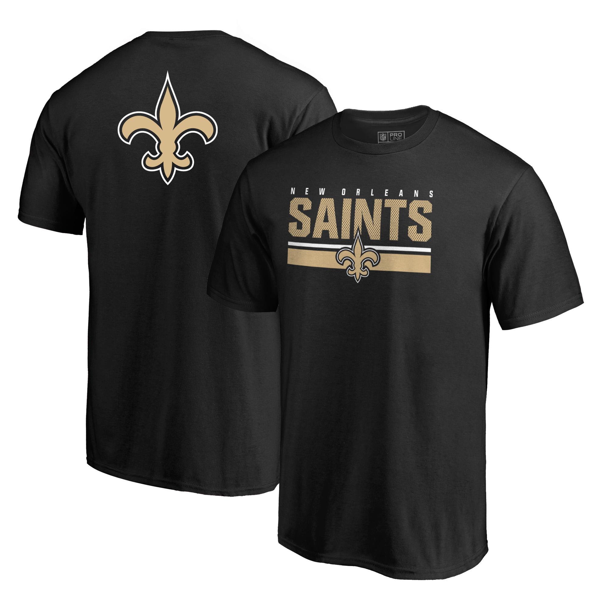 New Orleans Saints NFL Pro Line by Fanatics Branded End Game T-Shirt - Black