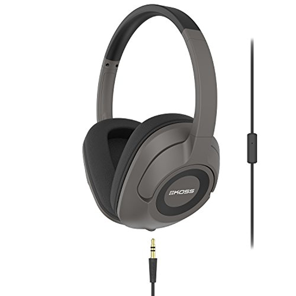 Koss UR42iK Over-Ear Headphones, detachable cord , in-line microphone &remote by Koss