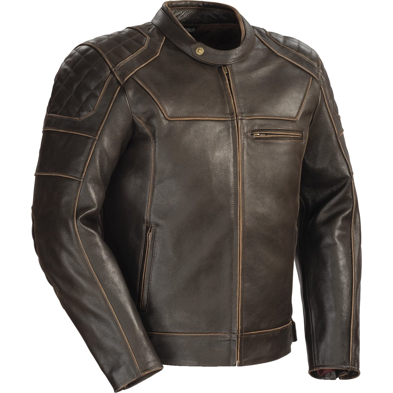 Cortech Dino Mens Leather Jacket Vintage Brown