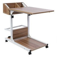 Hilitand Portable Multifunctional Removable Laptop Desk with Wheels Drawer Bed Sofa Books,Removable Laptop Desk, Laptop Desk with Wheels