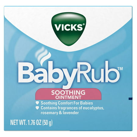 Vicks Babyrub Chest Rub Ointment With Soothing Aloe Eucalyptus Lavender And Rosemary From The Makers Of Vaporub 1 76 Oz