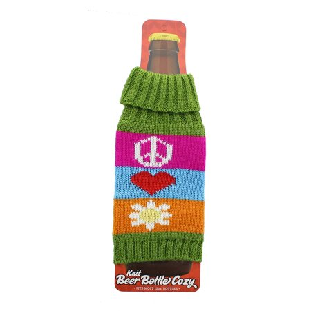 Beer Bottle Cozy (Knit Beer Bottle Cozy - Funky)