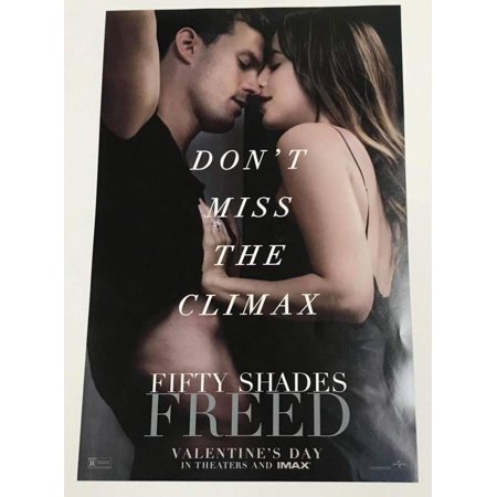 Fifty Shades Freed Imax AMC Promotional Movie Collectible Poster 11X17