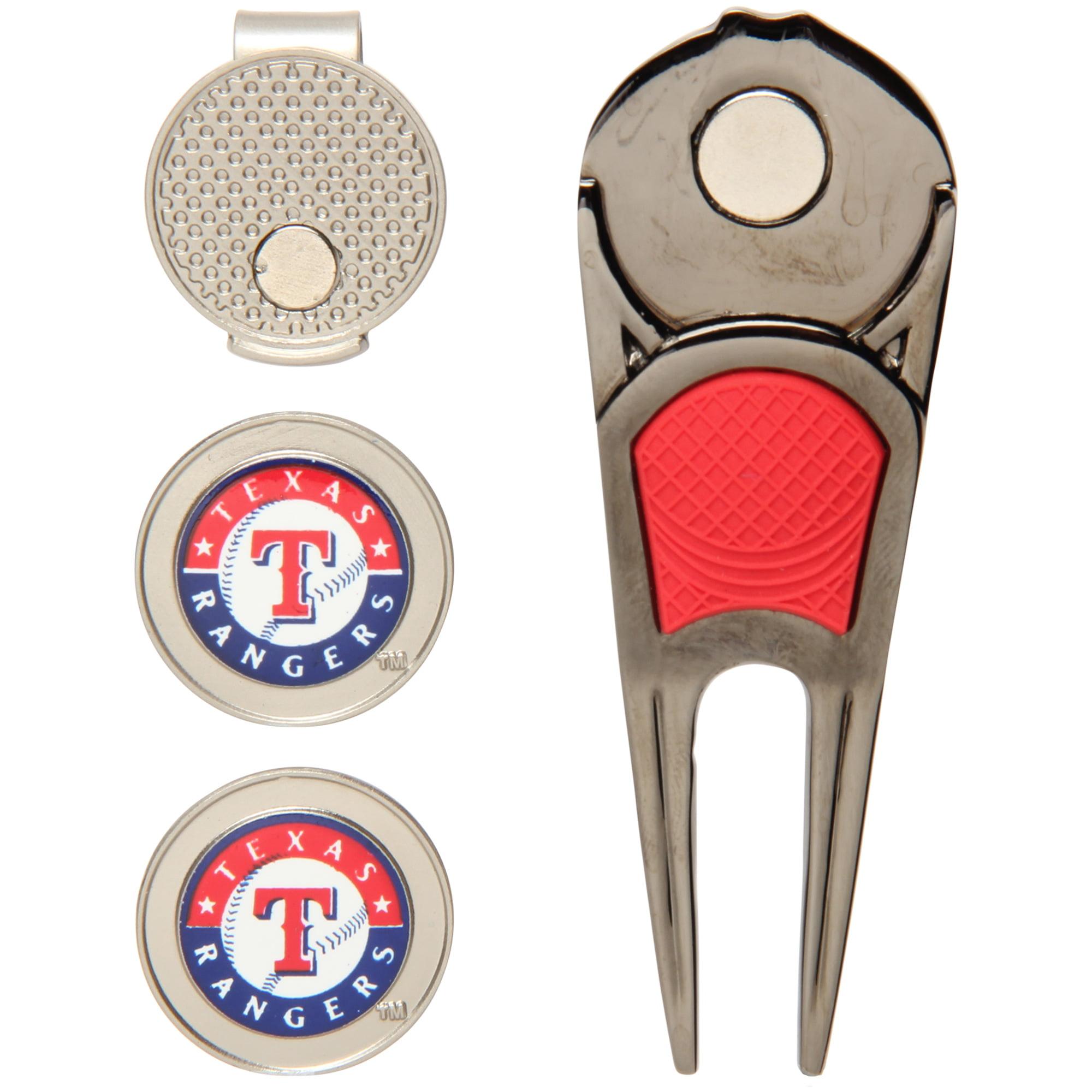 Texas Rangers WinCraft Ball Marker, Hat Clip & Divot Repair Tool Set - No Size