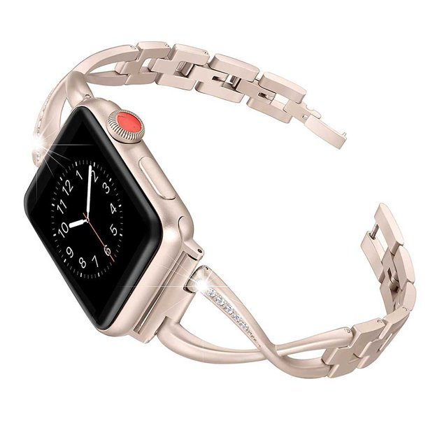 Xelparuc Band Compatible For Apple Watch Bands 38mm 42mm Iwatch Bands For Women Jewelry Metal Wristband Strap Bracelet Replacement Rose Gold 38mm Walmart Com Walmart Com