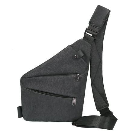 - HDE Small Sling Bag Lightweight Sash Crossbody Bag Slim Chest Daypack Backpack (Black)