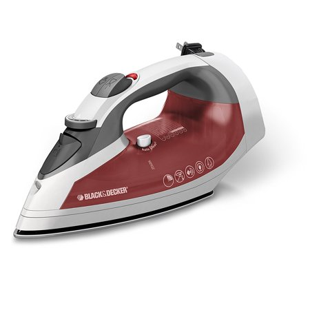 BLACK+DECKER  Smart Steam Iron, Cord Reel, Stainless Soleplate, ICR07X ()