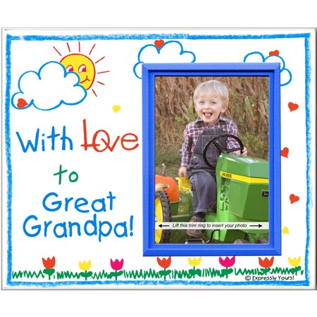 With Love to Great Grandpa! - Picture Frame Gift - I Love Grandpa Frame