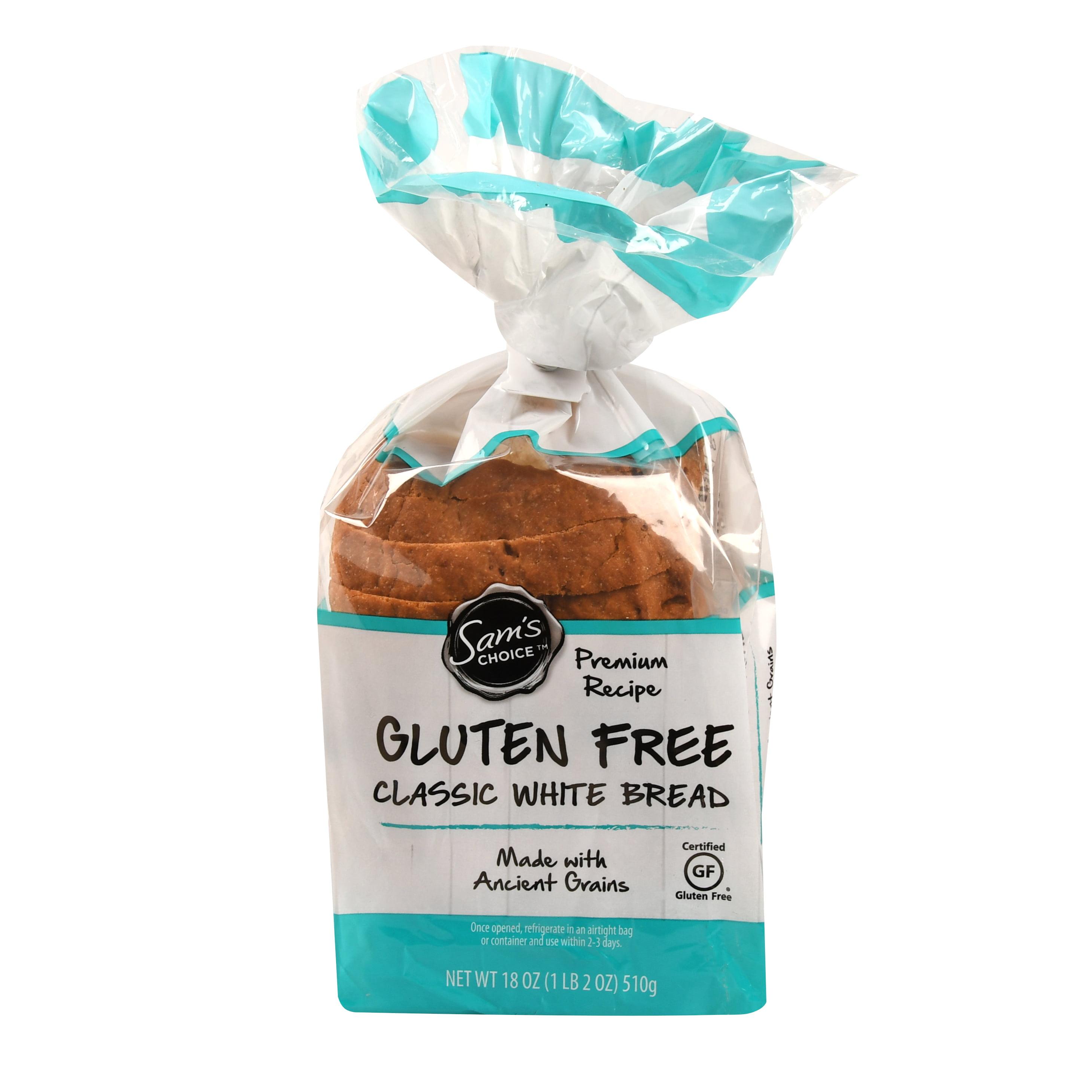 Sams Choice Gluten Free Classic White Bread 18 Oz
