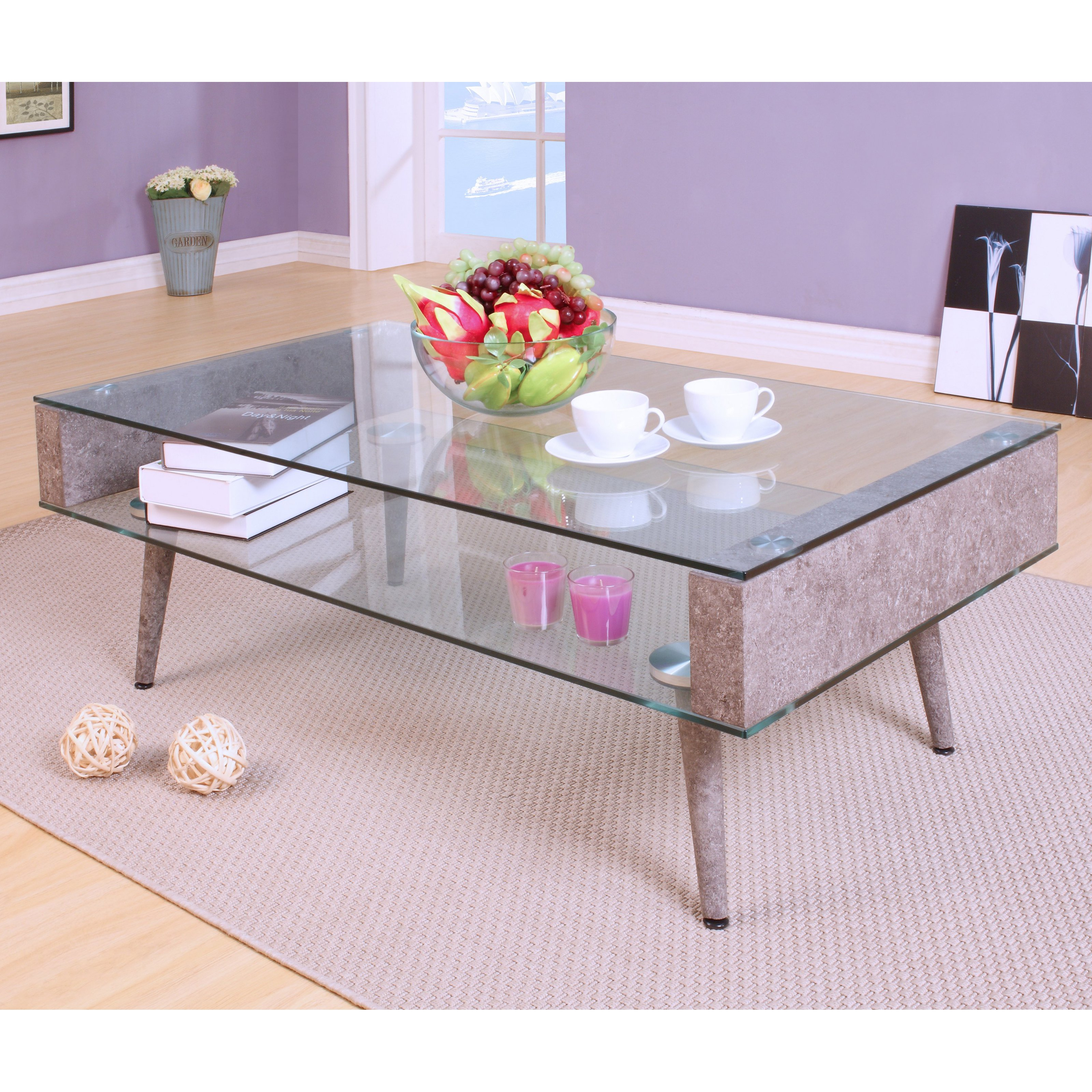 ACME Boyd Coffee Table, Clear Glass by Acme Furniture