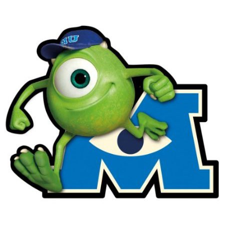 Car Magnet - Disney - Monster University - Mike Gifts New Licensed Toys 21962 - Disney Car Decals
