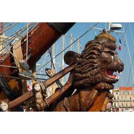 LAMINATED POSTER Sailboat Bow Boat Pirate Ship Dragon Poster Print 24 x 36