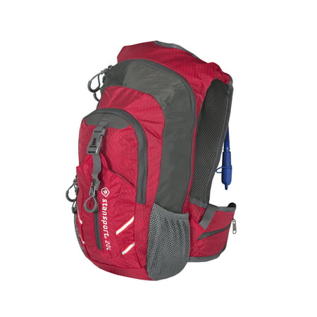 Hydration Daypacks - Stansport Daypack with Hydration Bladder - 20 Liter - Red