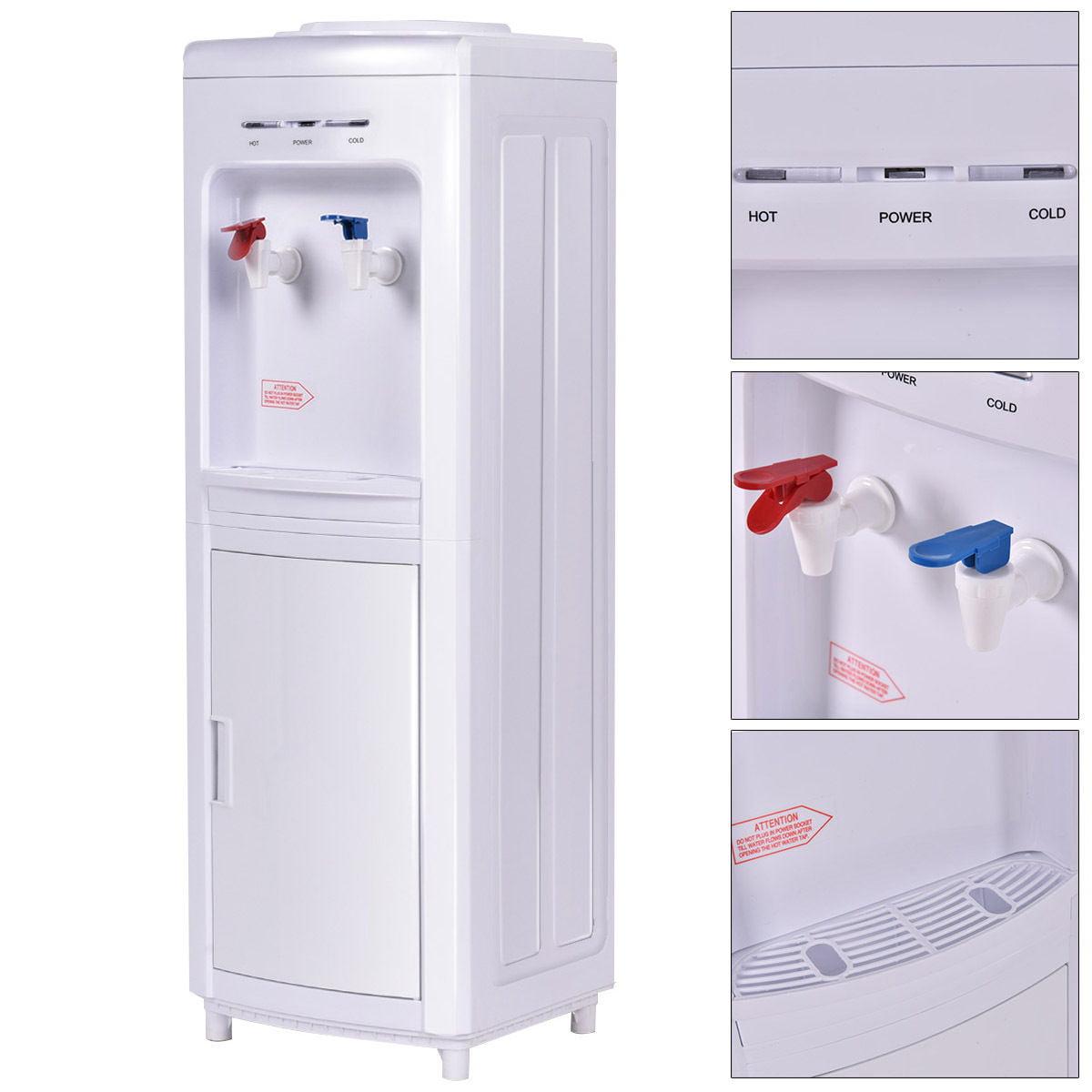 Costway Water Dispenser 5 Gallon  Bottle Load Electric Pr...