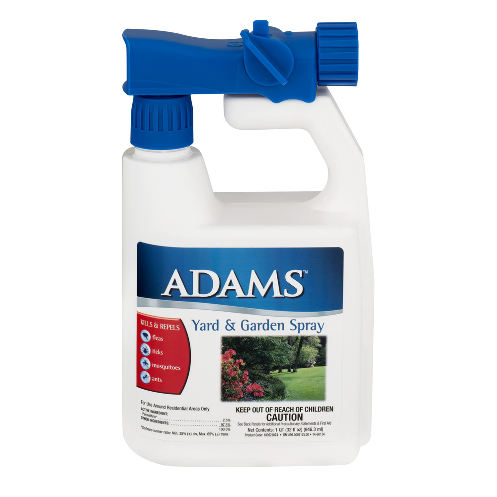 Adams Flea, Tick, Mosquitoes and Ants Yard & Garden Spray, 32 Fl Oz by Farnam Companies, Inc.