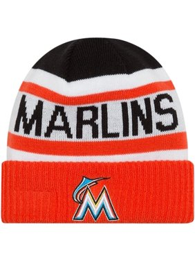 e3863032707a04 Product Image Miami Marlins New Era Toddler Biggest Fan 2.0 Cuffed Knit Hat  - White/Orange -