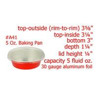 KitchenDance 5 oz. Colored Disposable Aluminum Foil Baking Cups- #A41NL