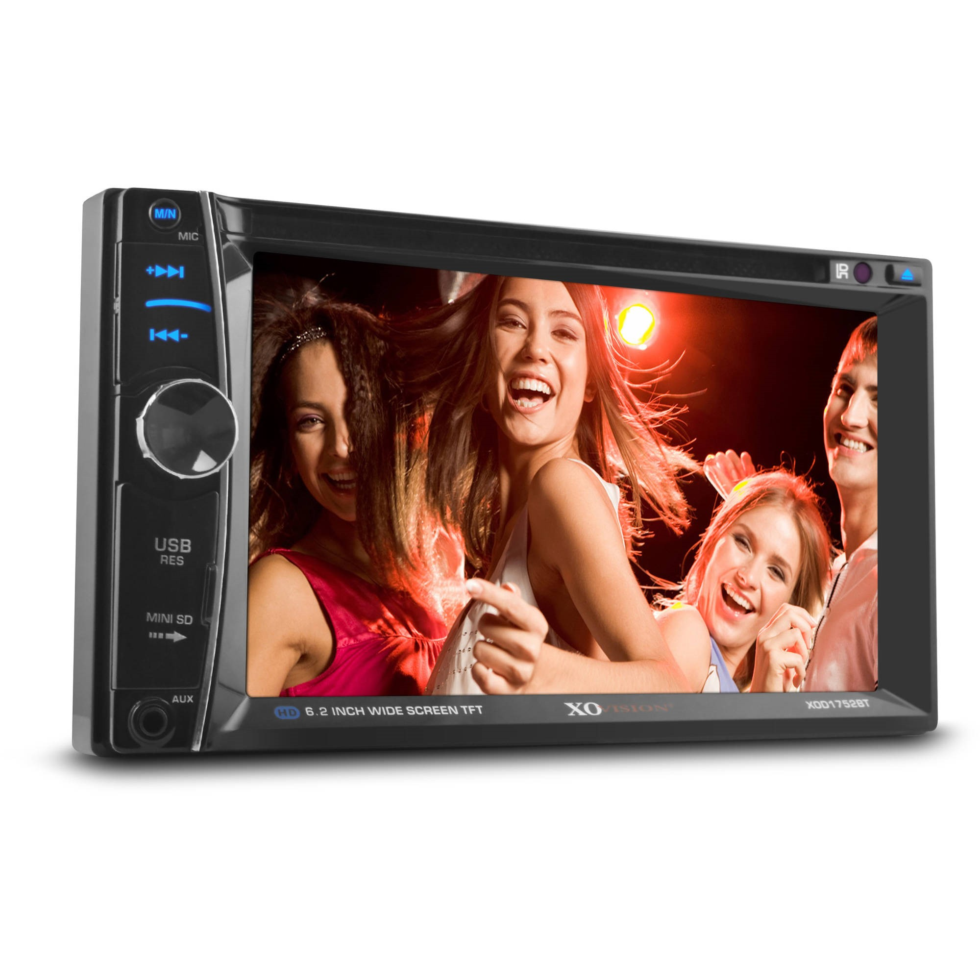 "Xo Vision Xod1752bt 6.2"" Double-din In-dash Dvd Receiver With Bluetooth"