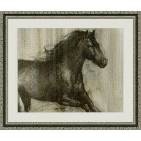 Global Designs Dynamic Stallion I Framed Painting Print