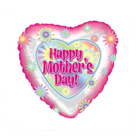 CTI 9? Happy Mother?s Day Tie Dyed Flowers Foil Balloon