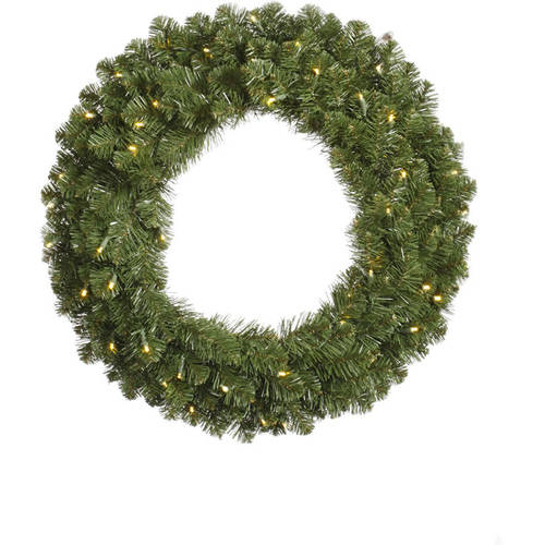 "Vickerman 36"" Grand Teton Wreath 100 Warm White LED"
