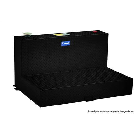 100 Gallon Water Tank (UWS/United Welding Services TT-101-L-T/P-BLK UWSTT-101-L-T/P-BLK 100 GALLON L-SHAPED LIQUID TANK FITS SUPER DUTY BLACK )