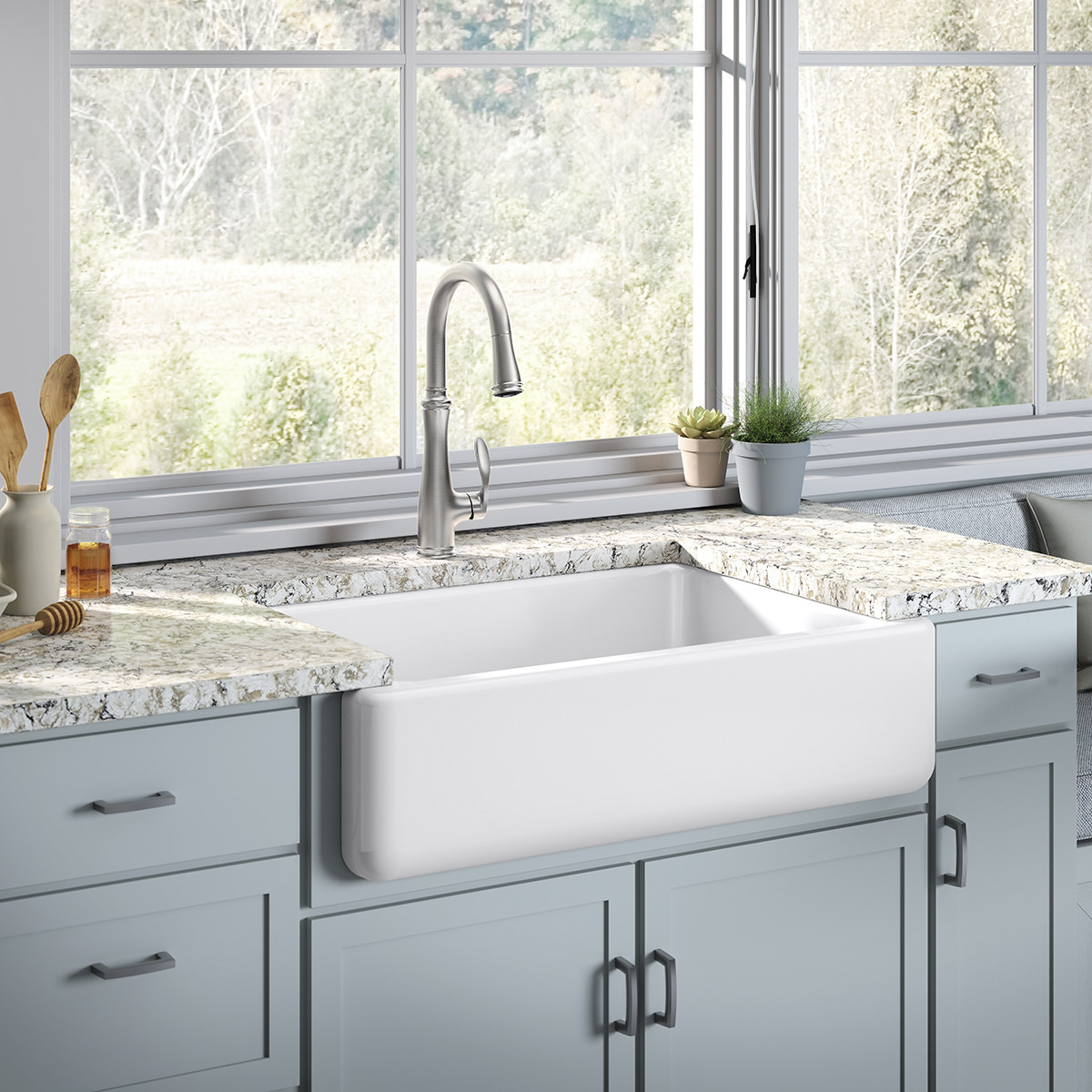 Kohler Bellera 1 Or 3 Hole Kitchen Sink Faucet With Pull Down 16 3 4 Spout Right Hand Lever Handle Docknetik Magnetic Docking System 3 Function Sprayhead Featuring Sweep Spray Vibrant Stainless Walmart Com Walmart Com