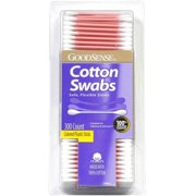 Good Sense Cotton Swabs Colored Plastic Sticks, 300 Count - Case of 24