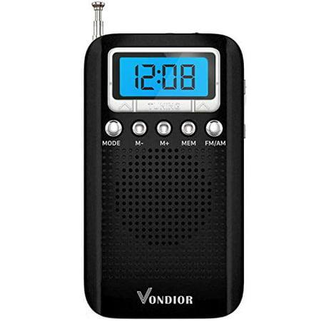Digital AM FM Portable Pocket Radio with Alarm Clock- Best Reception and Longest Lasting. AM FM Compact Radio Player (Best Clock Radio Uk)