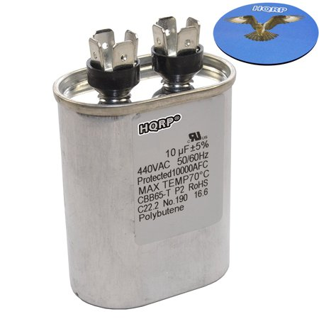 hqrp 10uf 370 440v capacitor ac electric motor run start