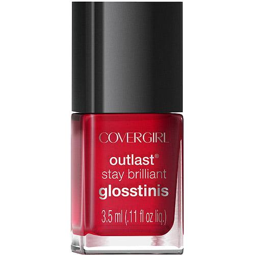 CoverGirl Outlast Stay Brilliant Glosstinis Nail Polish, Sangria Shade 515
