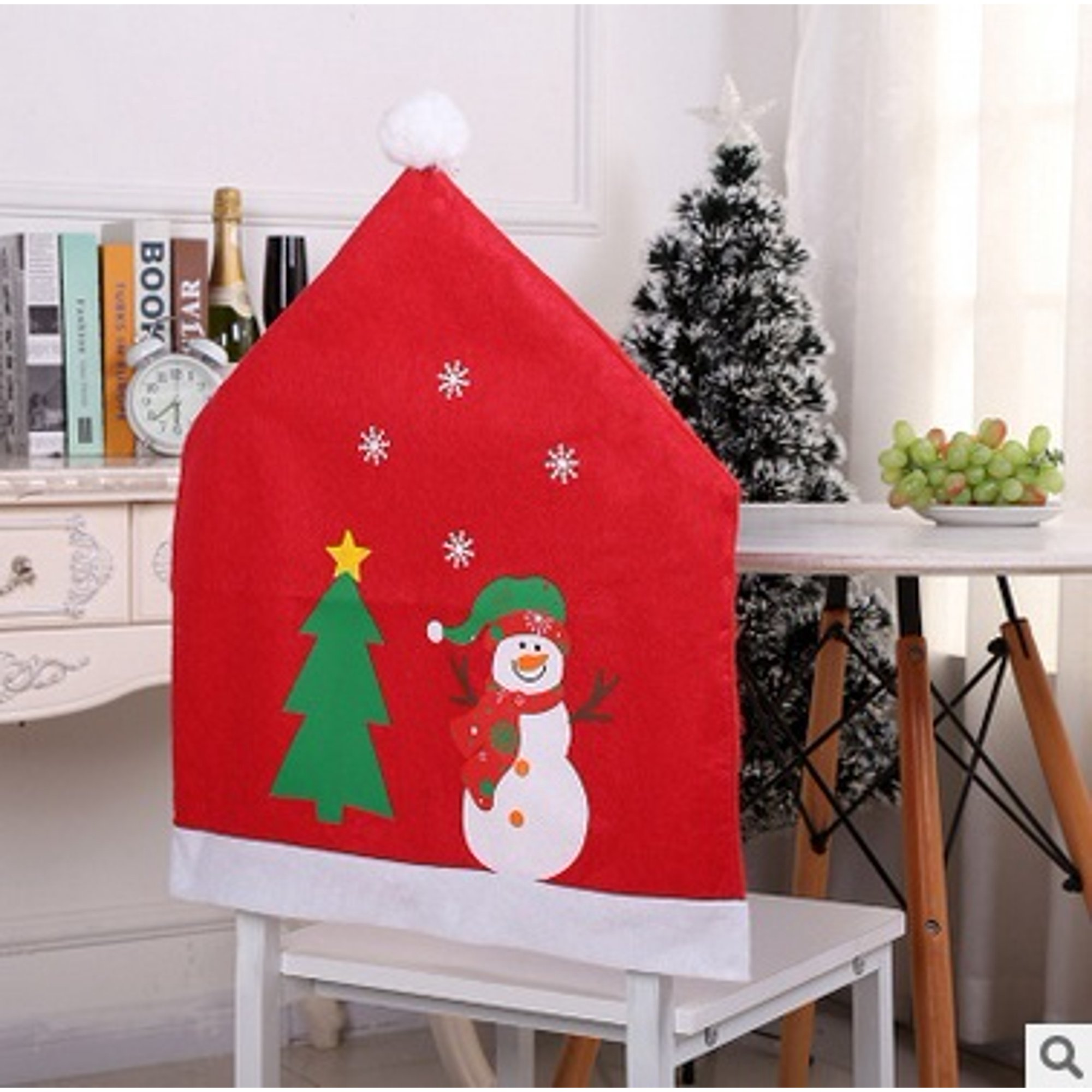Christmas Chair Covers Decor Kitchen Chair SlipCovers Santa Claus for Holiday Party Festival Halloween Dining Room Chairs
