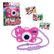 Disney Junior Minnie Mouse Picture Perfect Camera, Lights and Realistic Sounds Pretend Play Toy Camera for 3 Year Old Girls, Preschool Ages 3 up by Just Play