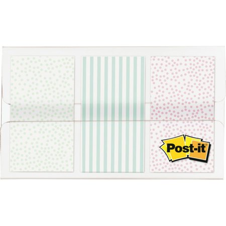 Post-it® Pastel Color Flags - 60 x Assorted Pastel - 30 Sheets per Pad - Assorted Pastel - Self-adhesive, Sticky, Removable, Writable - 60 / Pack