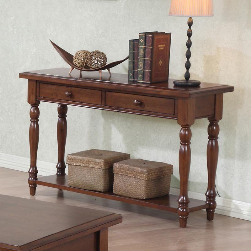 Quails Run 2 Drawer Sofa Table