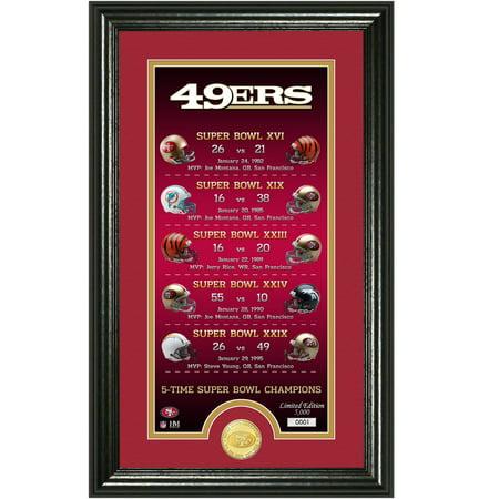 San Francisco 49ers Highland Mint Legacy 14