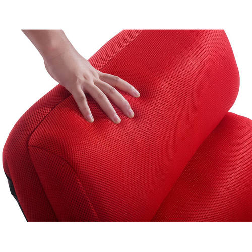 merax foldable floor cushion lounge chairbed with pillow red image 6 of 6 - Bed Pillow Chair