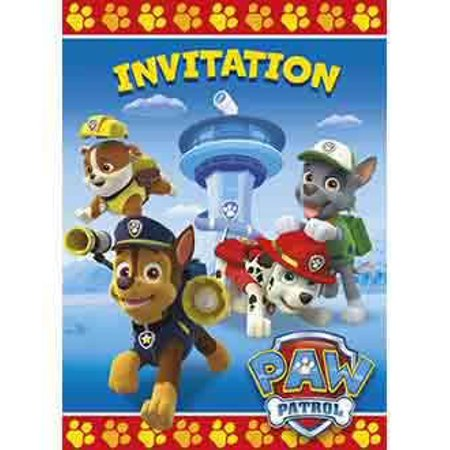 PAW Patrol Invitations, 8pk - Halloween Printable Invitation Paper