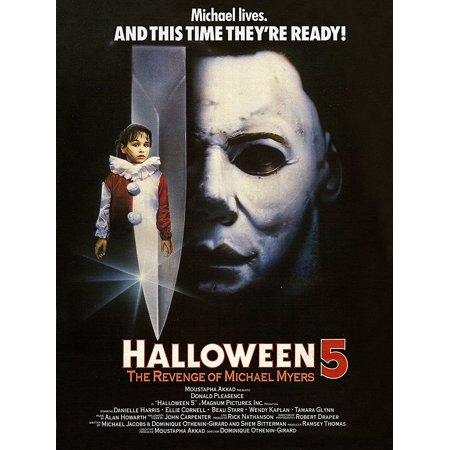 Halloween 5: The Revenge of Michael Myers (1989) Movie Poster 24x36 inches Classic Horror..., By Movie Poster r Us Ship from US