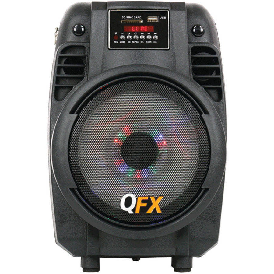 "QFX PBX-710700BTL 6.5"" Portable Bluetooth Party Speaker"