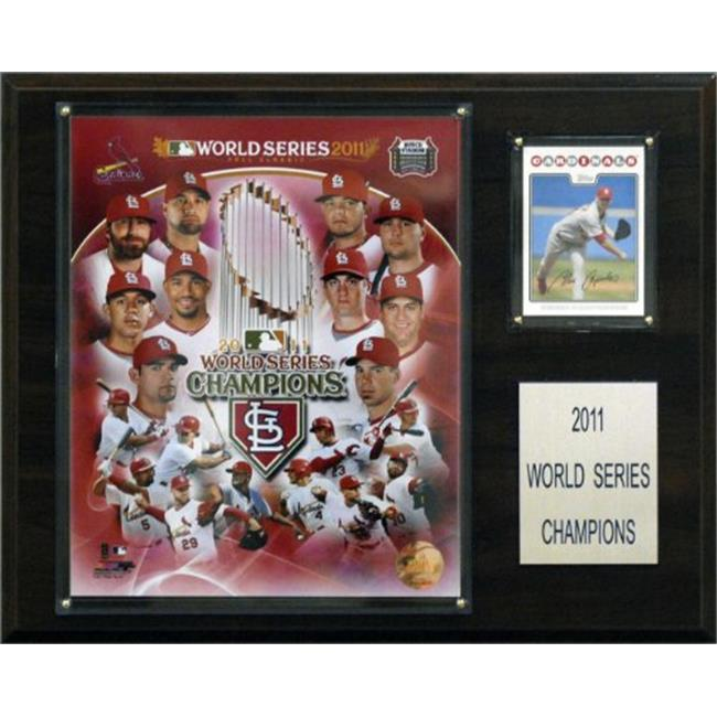 C & I Collectables MLB St.  Louis Cardinals 2011 World Series Champions Plaque