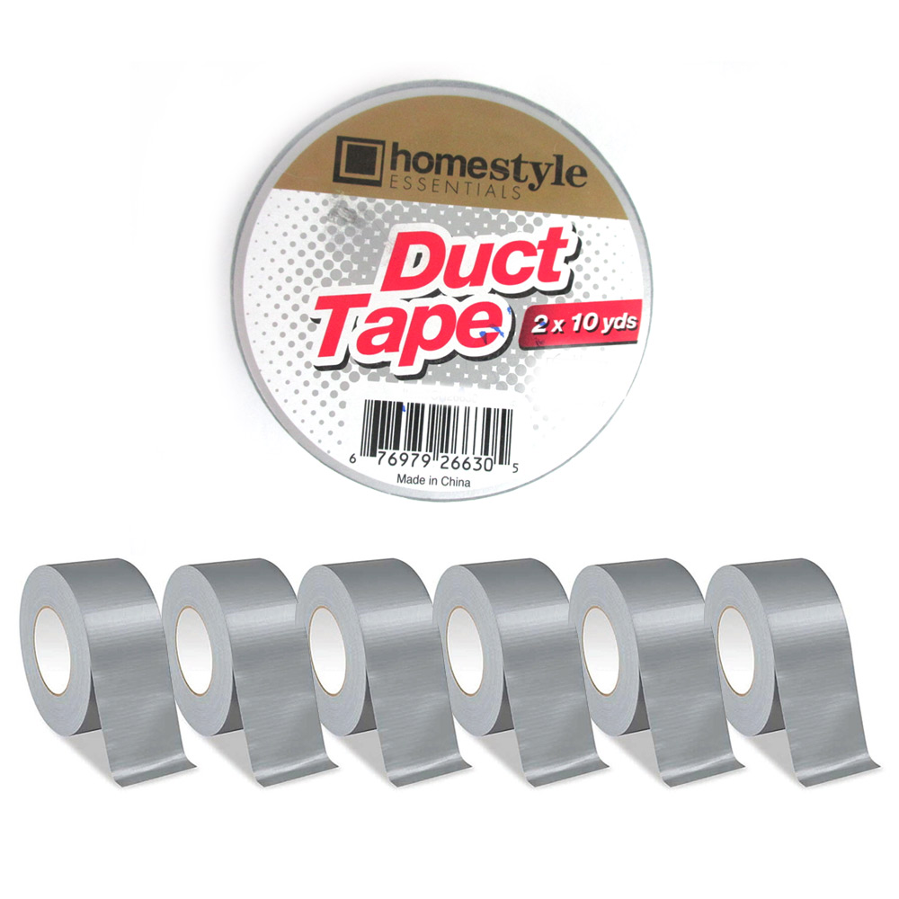 6 Rolls Silver Duct Tape Box Sealing Packaging Packing Carton 1.89 x 10 yds !