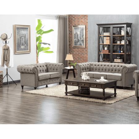 US Pride Furniture Teressa 2 Piece Living Room Set, Sofa, Loveseat ()