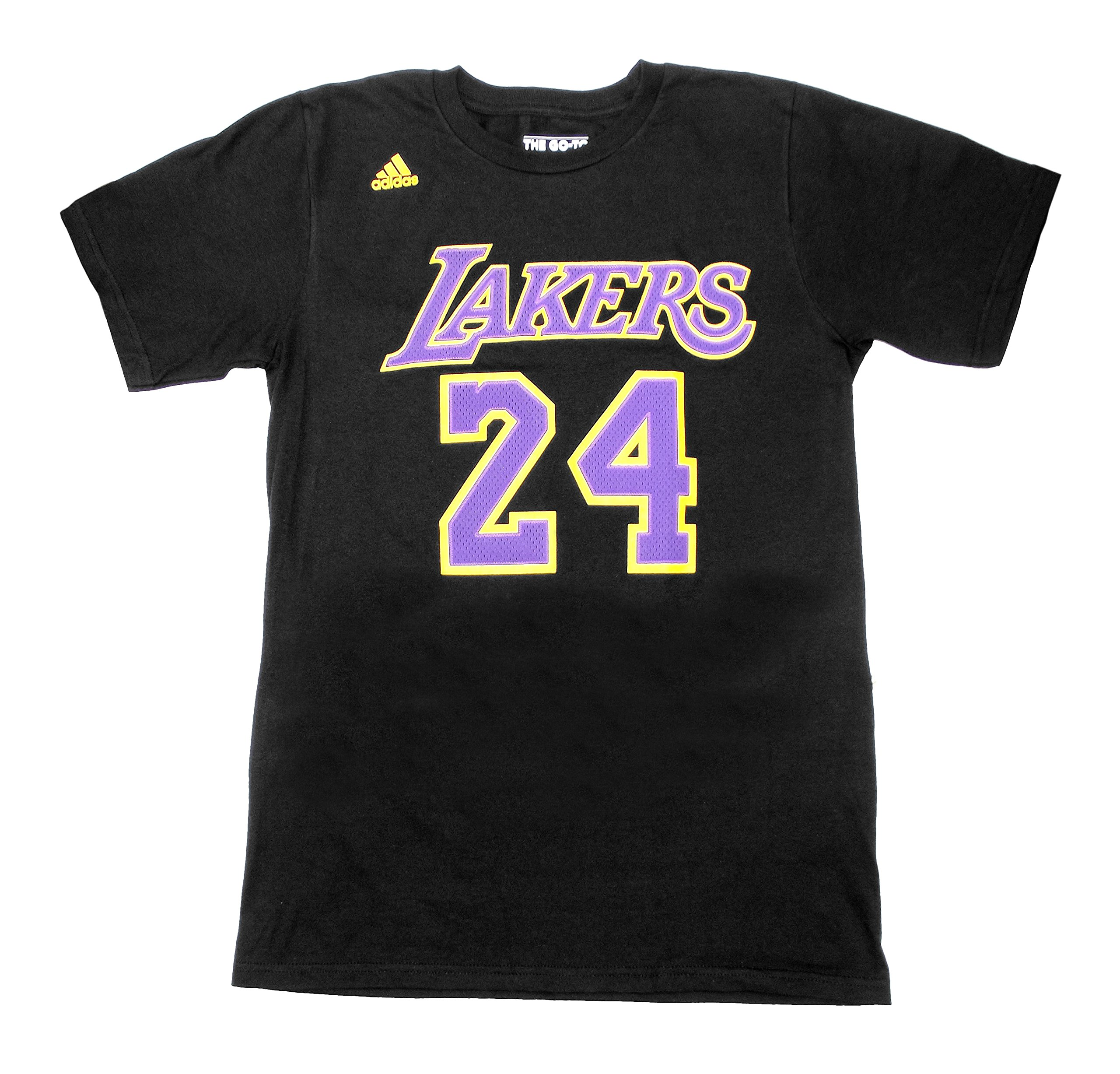 MENS BLACK MESH LOGO THE GO-TO TEE SHIRT NBA LAKERS KOBE BRYANT (LARGE)